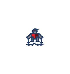 ski icon winter template vector image