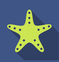 starfish in flat style marine icon in cartoon vector image