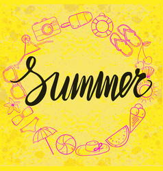 summer template with bright background vector image