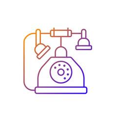 telephone gradient linear icon vector image