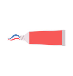 toothpaste tube white isolated cream care vector image