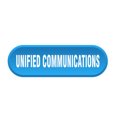 Unified communications button rounded sign on vector