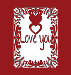 Valentine or wedding card with hearts and love vector
