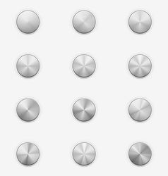 Volume Knobs Music Controls vector image