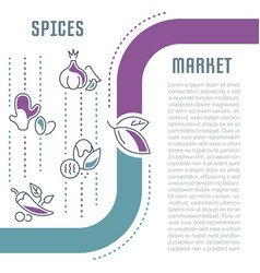 website banner and landing page spices market vector image