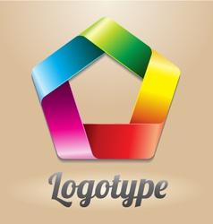Abstact infinite loop logo template vector