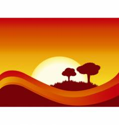 abstract sunset vector image vector image