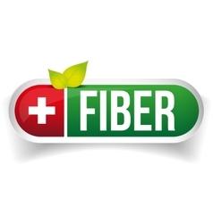 Fiber label green vector image