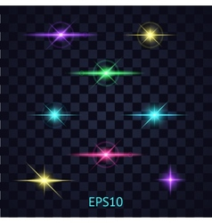Lights on the transparent background vector image vector image