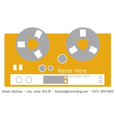 Recorder Business Card vector image vector image