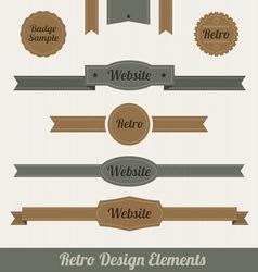 retro web elements vector image vector image
