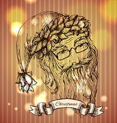 Santa Claus hand drawn llustration realistic vector image vector image