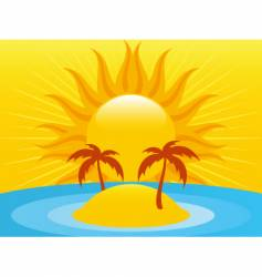 summer island vector image vector image