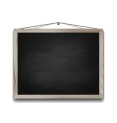 Black chalkboard in wooden frame vector image