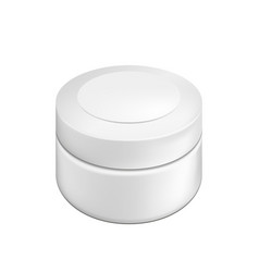 blank cosmetic package container for cream vector image