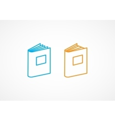 Book Line Icons vector image vector image