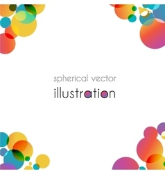 Brochure with color angles vector image vector image