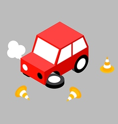 Car crash cone vector image