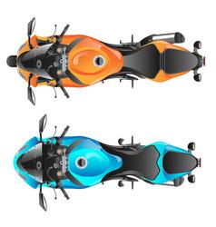 color sport motorcycle vector image