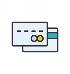 Credit Card outlline icon vector image
