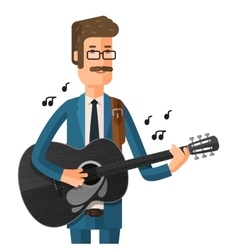 man plays the guitar vector image