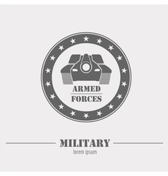 Military logo and badges Graphic template vector image