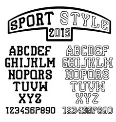 serif font in the retro style of sport vector image