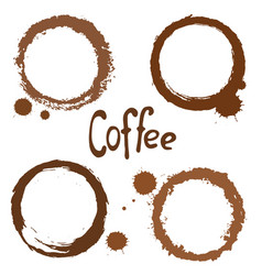 set of coffee stains vector image