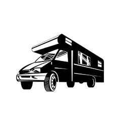 Camper Van Motor Home Retro vector image