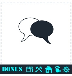 Chat icon flat vector