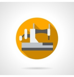 Home sewing machine round flat icon vector image