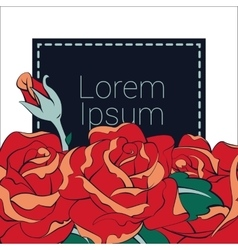 roses wedding card theme vector image