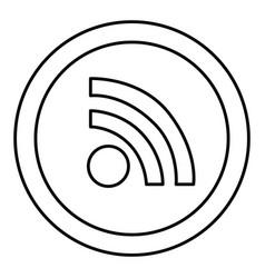 round symbol wifi connection icon vector image vector image