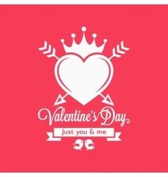 Valentines day vintage concept background vector
