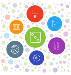 7 game icons vector