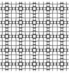 Abstract pattern retro black and white vector