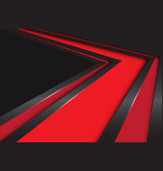 abstract red arrow speed direction on black vector image