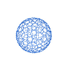 abstract sphere wireframe molecular vector image