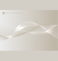 abstract white gold smooth waves lines with glow vector image
