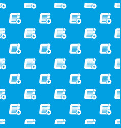 add new pattern seamless blue vector image