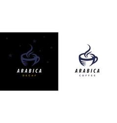 Arabica coffee cup logo icon vector