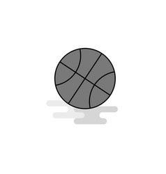 basket ball web icon flat line filled gray icon vector image