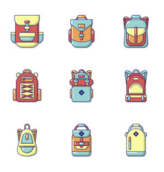 Briefcase icons set flat style vector