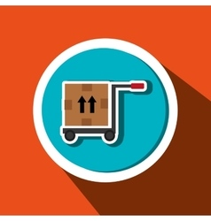 Car hand box delivery vector