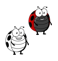 Cartoon red spotted ladybird or ladybug insect vector