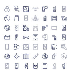 cell icons vector image