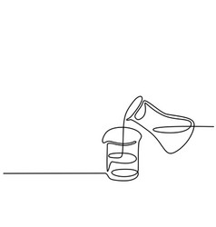 Chemical lab retorts vector