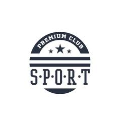 Classic Sport Label Premium Club vector image