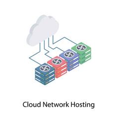 Cloud networking hosting vector
