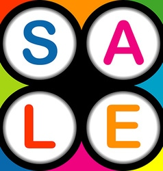Colorful SALE poster vector